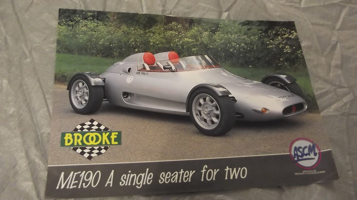 0000 BROOKE ME190 SALES BROCHURE FOR SALE For Sale (picture 1 of 2)