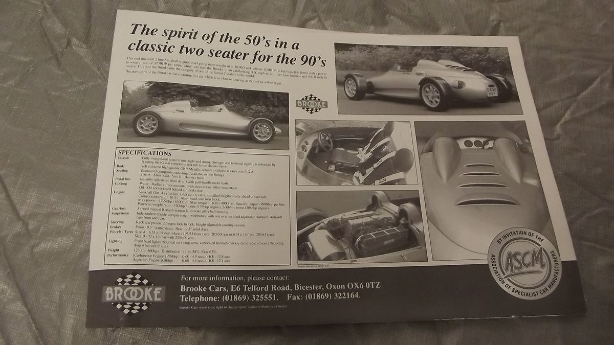 0000 BROOKE ME190 SALES BROCHURE FOR SALE For Sale (picture 2 of 2)