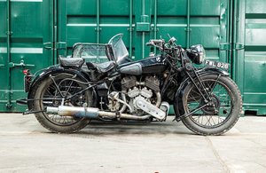 Picture of 1937 Brough Superior 982cc SS80 & Petrol-Tube Sidecar (see text) For Sale by Auction
