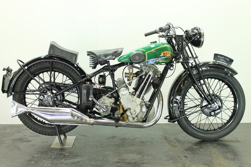 BSA S32-8 / 4.93hp deluxe 1932 500cc 1 cyl ohv For Sale (picture 1 of 6)