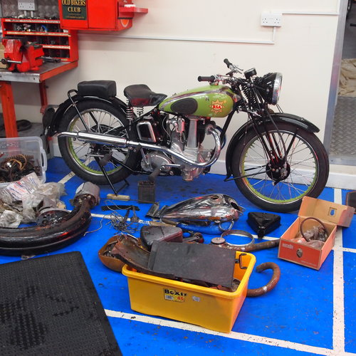 1937 BSA B24 O.H.V. 350cc RESERVED FOR RICHARD. SOLD (picture 1 of 6)