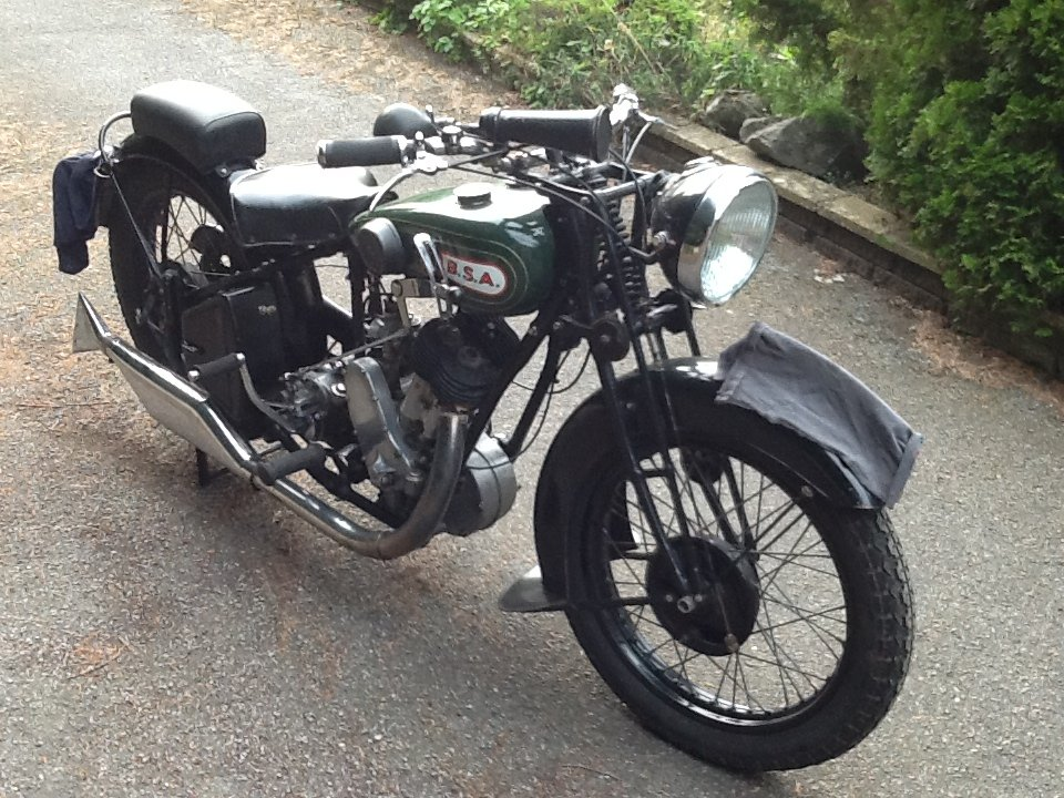 """Very Desirable 1930  BSA H30-8 Deluxe """"Sloper"""" For For Sale (picture 1 of 6)"""