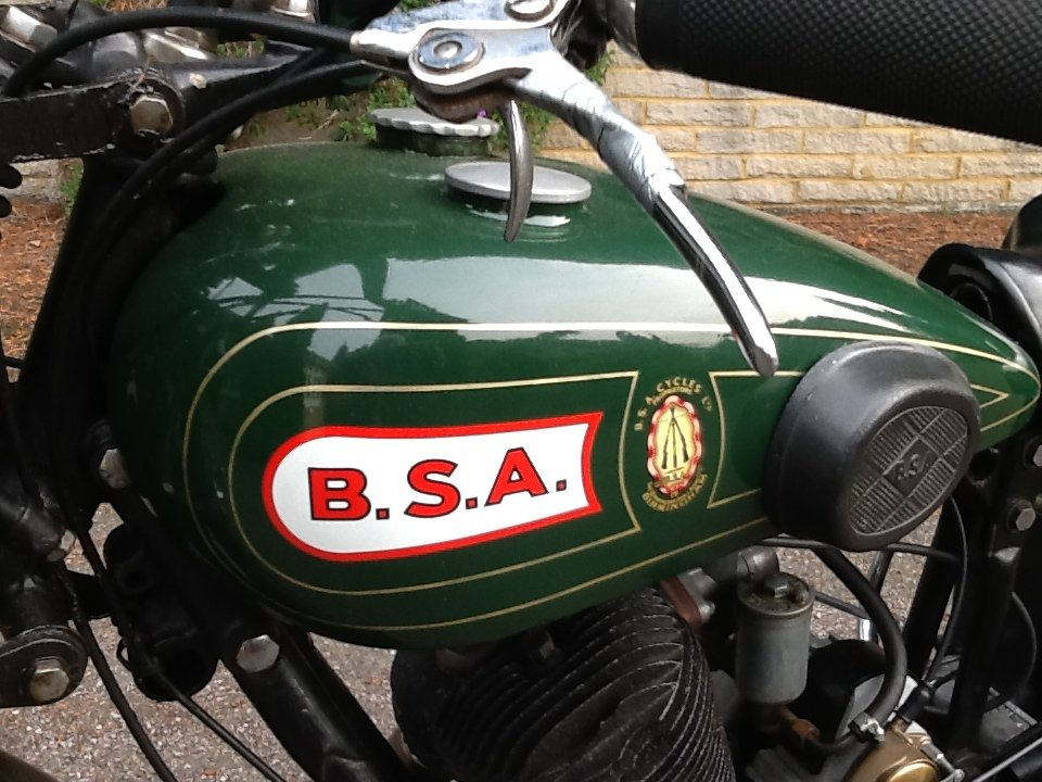 """Very Desirable 1930  BSA H30-8 Deluxe """"Sloper"""" For For Sale (picture 6 of 6)"""