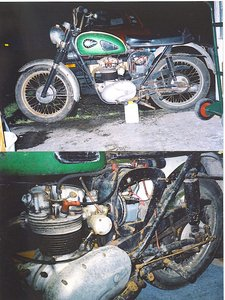 1966 C15 BSA trials