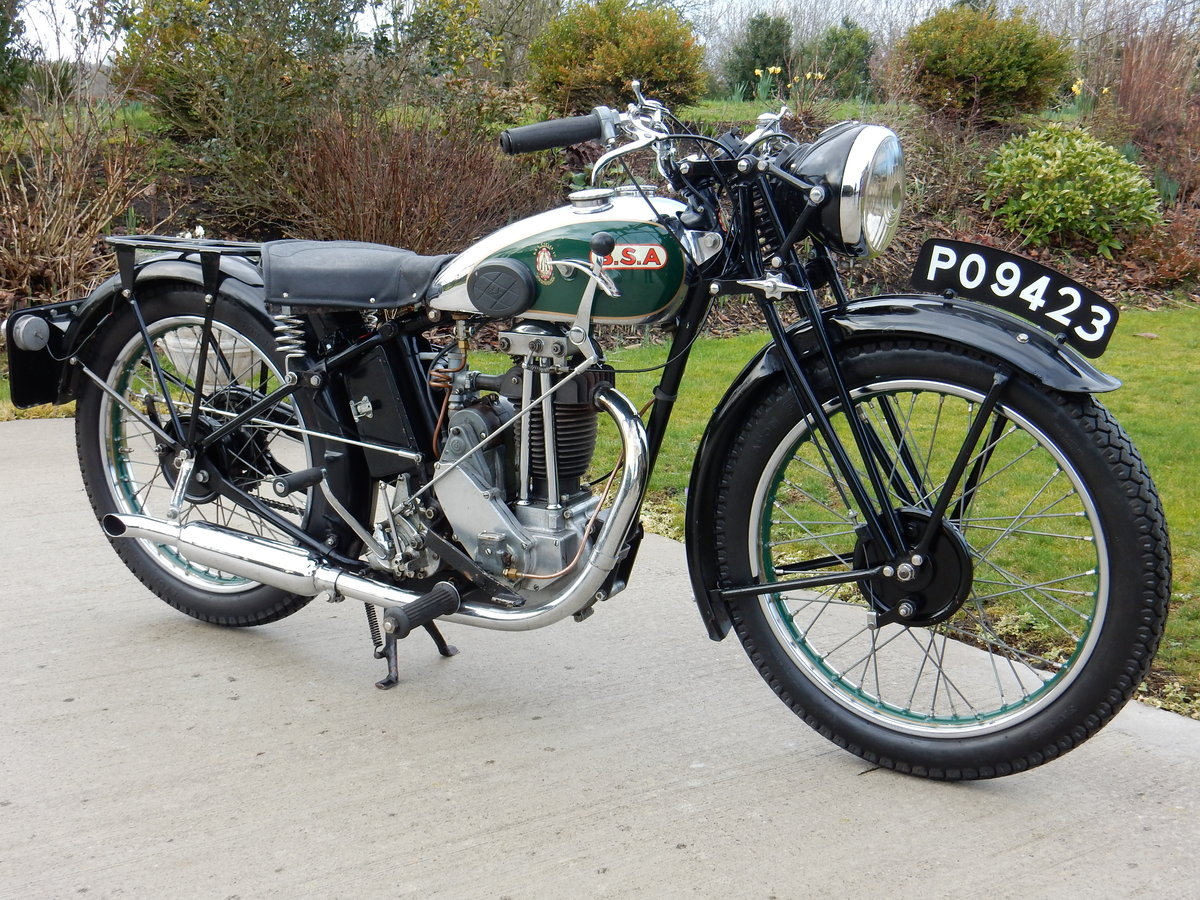 BSA B34-2 249cc 1934 - V5C Registration Document & Buff Log  For Sale (picture 1 of 4)