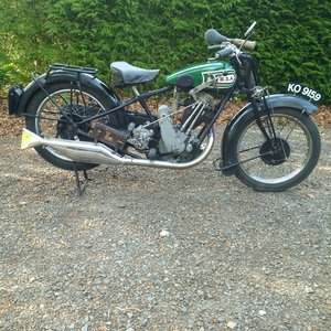 From private classic collection - BSA Sloper 1928 For Sale