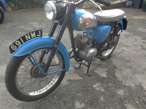1964 BSA D7 Bantam - pretty in Sapphire Blue For Sale