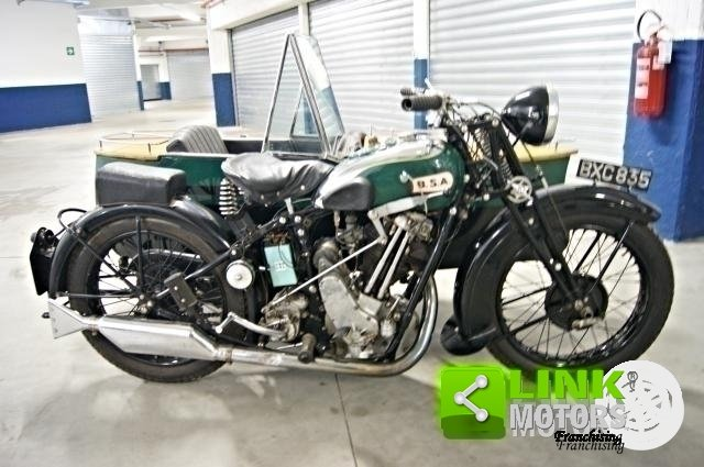 1934 MOTOCICLO BSA SLOPER DELUXE CON SIDECAR For Sale (picture 1 of 6)
