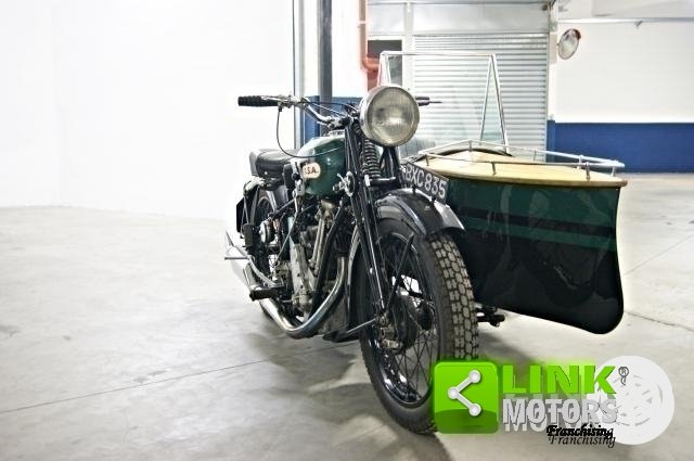 1934 MOTOCICLO BSA SLOPER DELUXE CON SIDECAR For Sale (picture 2 of 6)