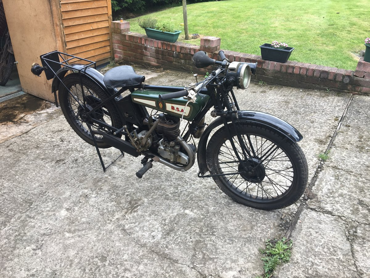 1927 /1928 BSA B28 de-luxe flat tank 250cc three speed For Sale (picture 1 of 6)