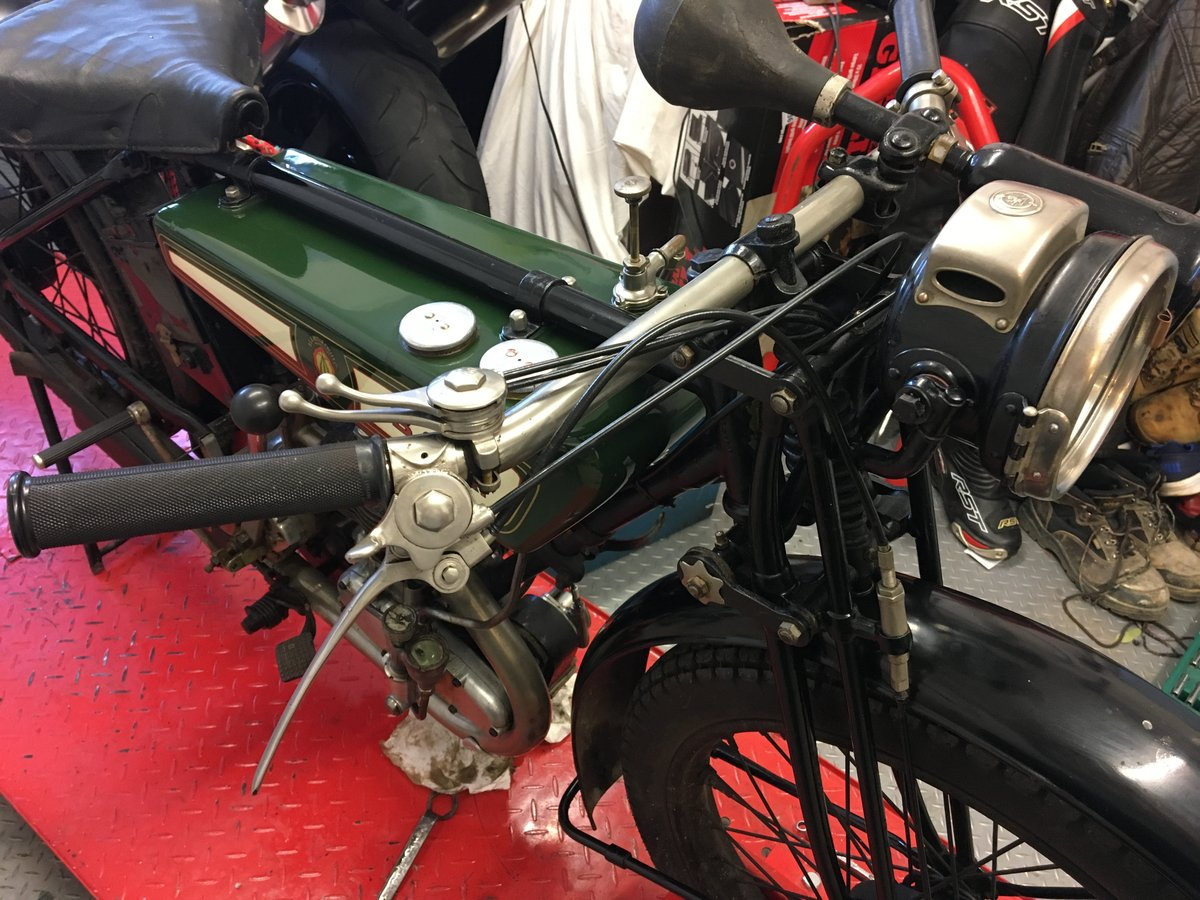 1927 /1928 BSA B28 de-luxe flat tank 250cc three speed For Sale (picture 5 of 6)
