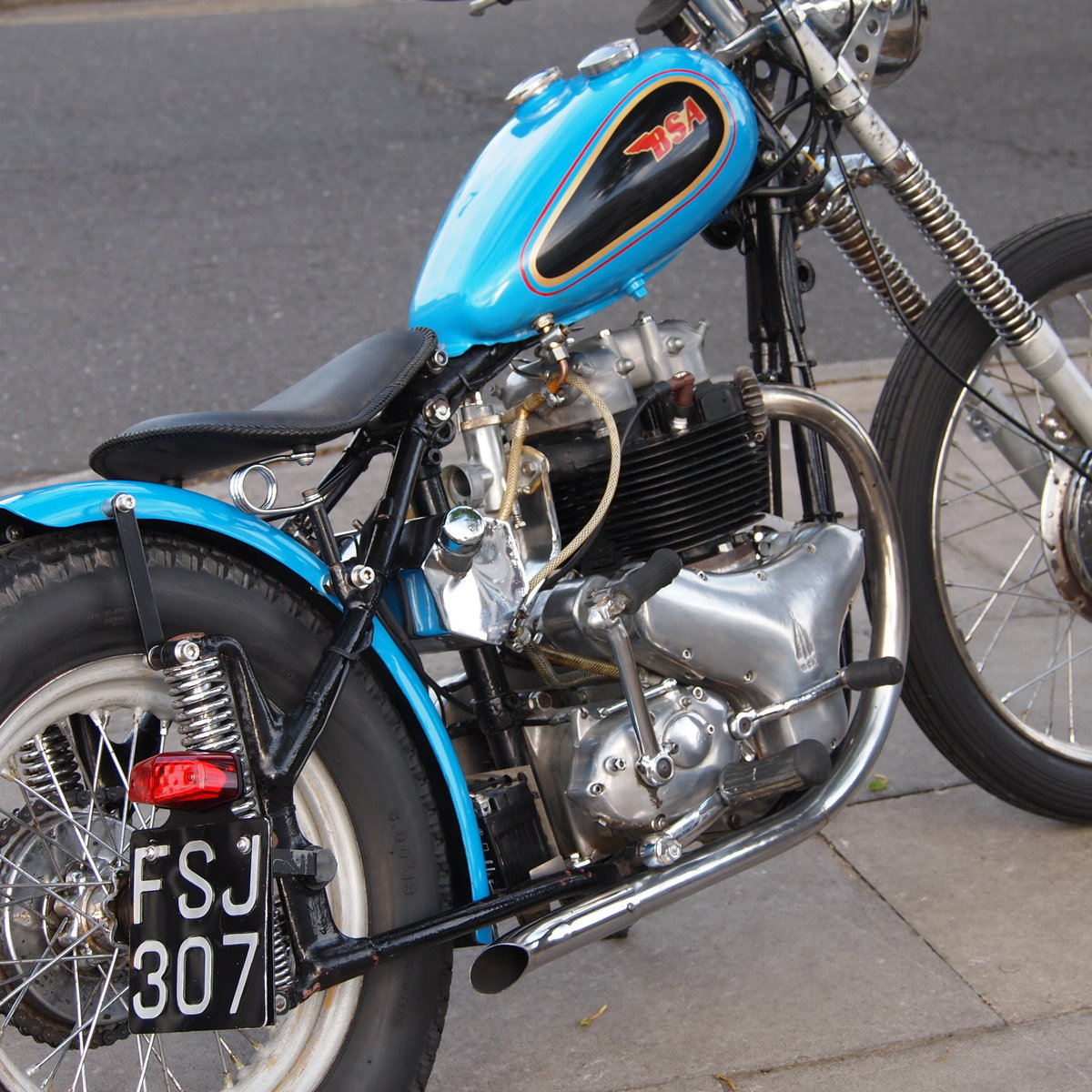 1955 A10 Gold Flash 650cc Bobber. RESERVED FOR DAVID. SOLD (picture 4 of 6)