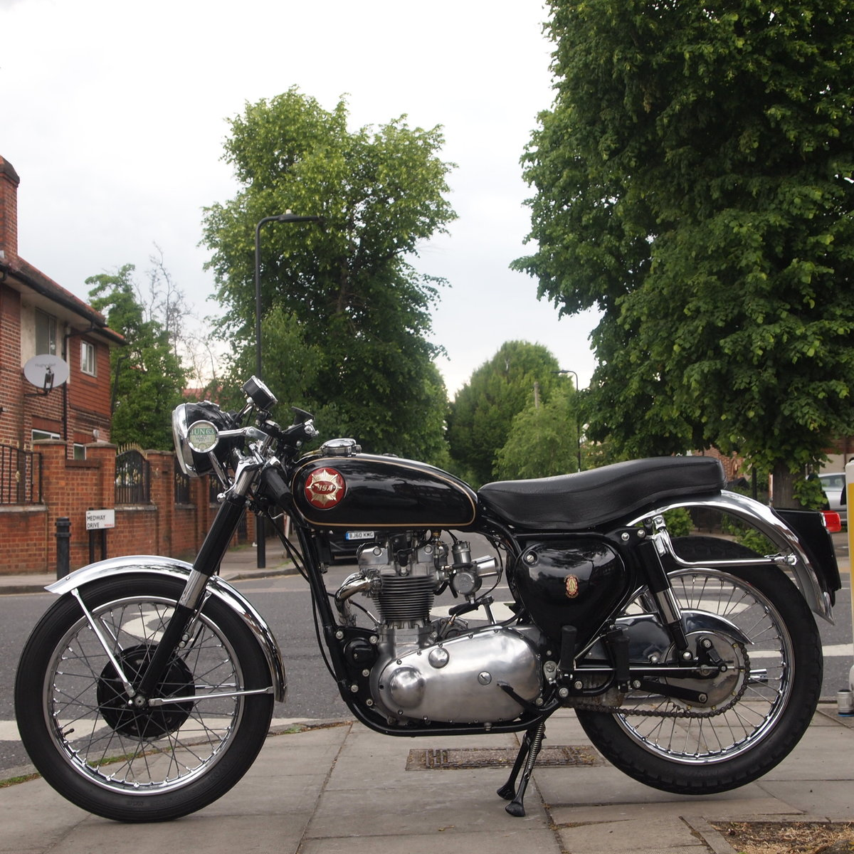 1961 BSA Tribsa With Triumph Alloy T100 Competion Motor. For Sale (picture 6 of 6)