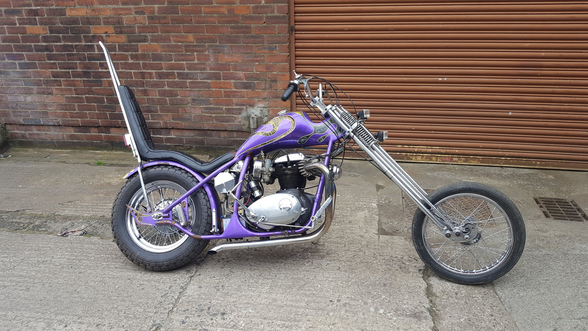 1969 BSA A65 Lightning Old School Chopper For Sale (picture 1 of 6)