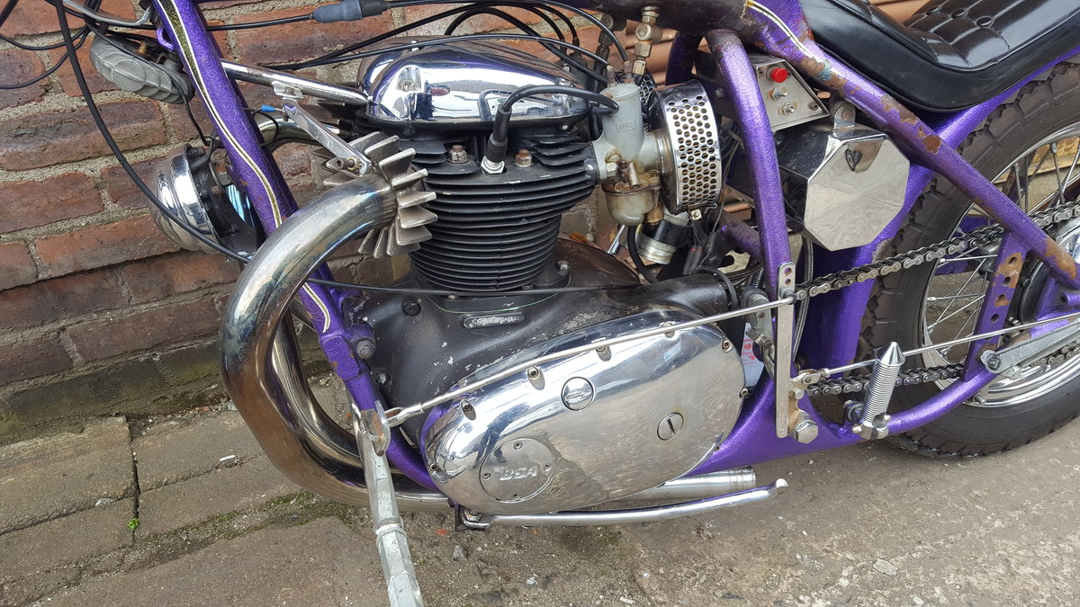 1969 BSA A65 Lightning Old School Chopper For Sale (picture 5 of 6)