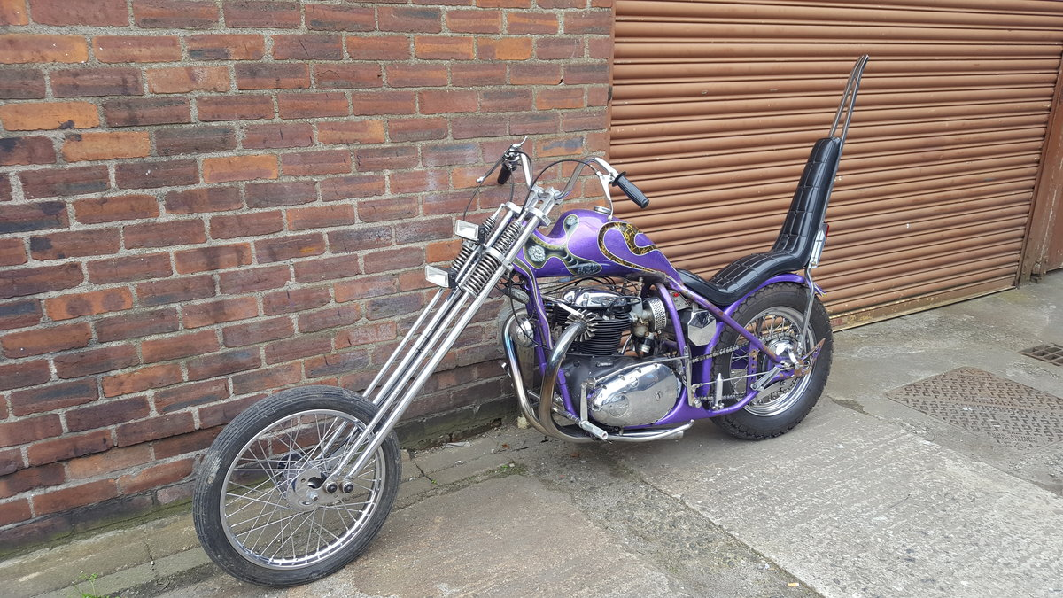 1969 BSA A65 Lightning Old School Chopper For Sale (picture 6 of 6)