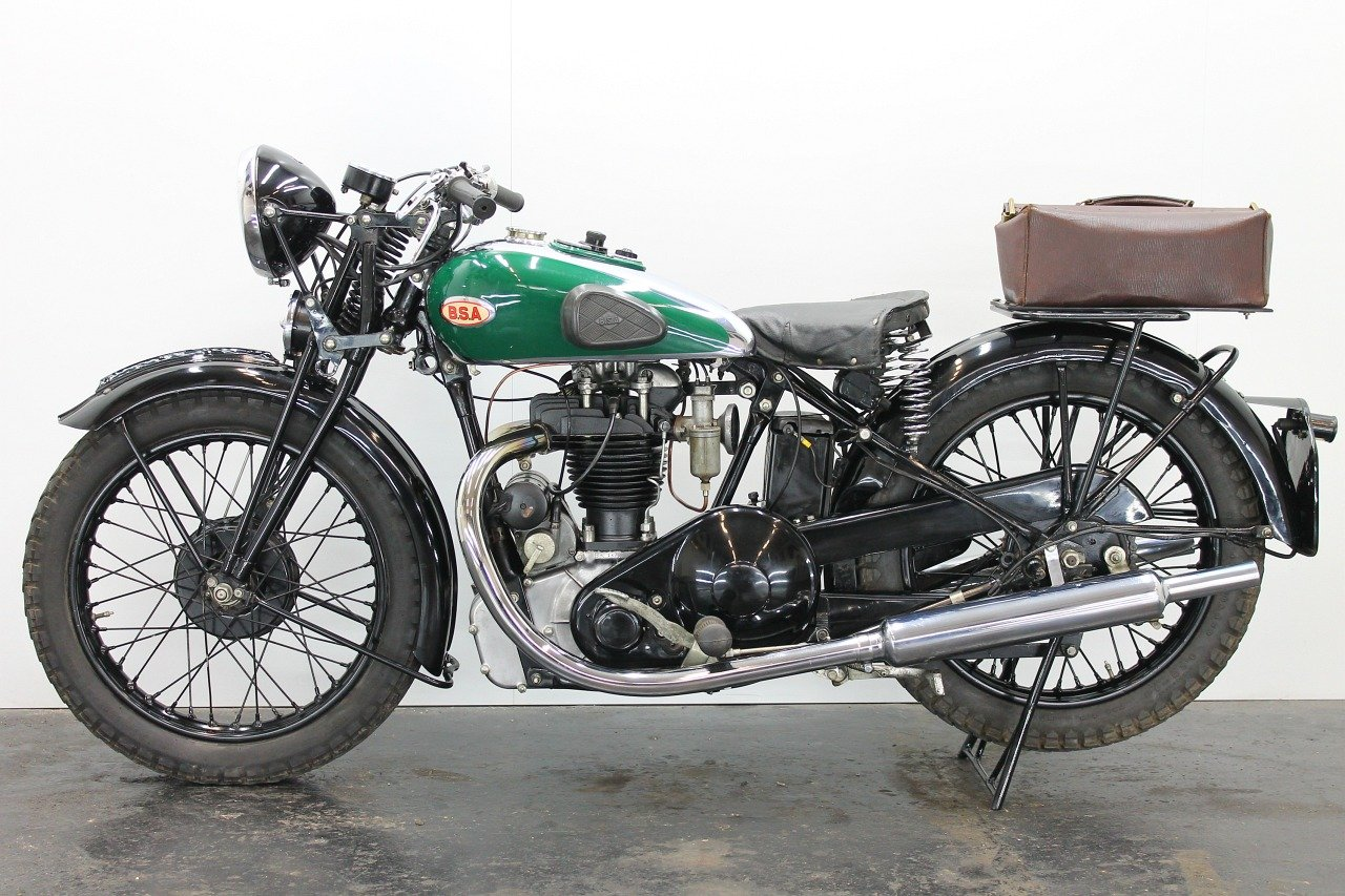 BSA Bluestar W34/8 / 4.99hp 1934 500cc 1 cyl ohv  For Sale (picture 2 of 6)