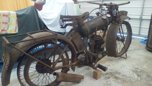 1926 BSA Roundtank Restoration Project For Sale