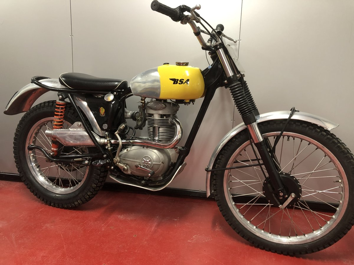 1964 BSA C15 TRIALS BIKE PRE 65 ROAD REGD TRAIL GREEN LANER  For Sale (picture 1 of 6)