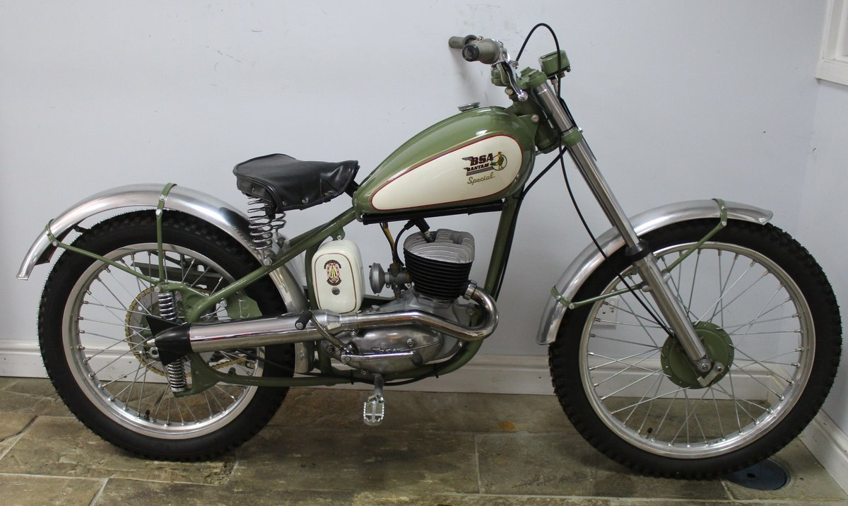 c1952 BSA Bantam D1 Plunger Trials Special Fully restored  For Sale (picture 1 of 6)