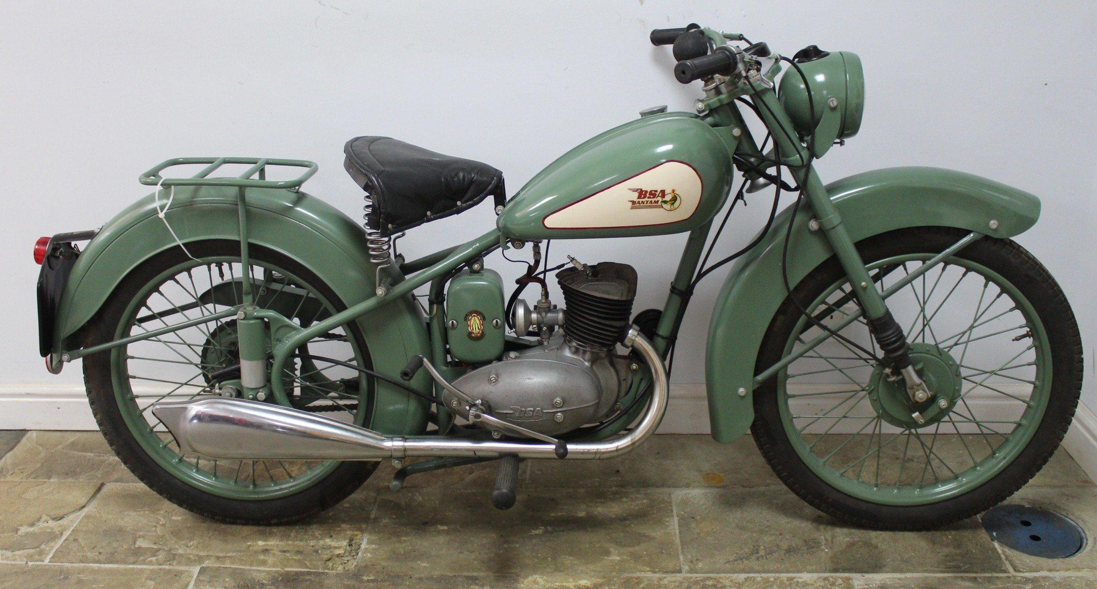 1952 BSA D1 Bantam 125 cc Original registration number  SOLD (picture 1 of 6)