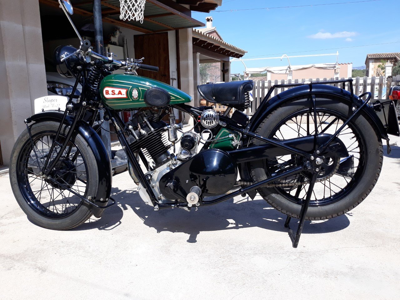 1927 BSA  S27  Sloper  500cc. - restored For Sale (picture 1 of 6)