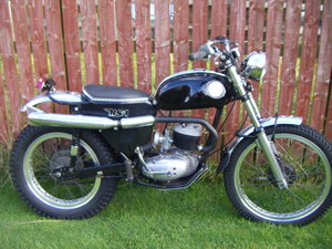 1966 Bsa bantam d7 in trail / trials trim