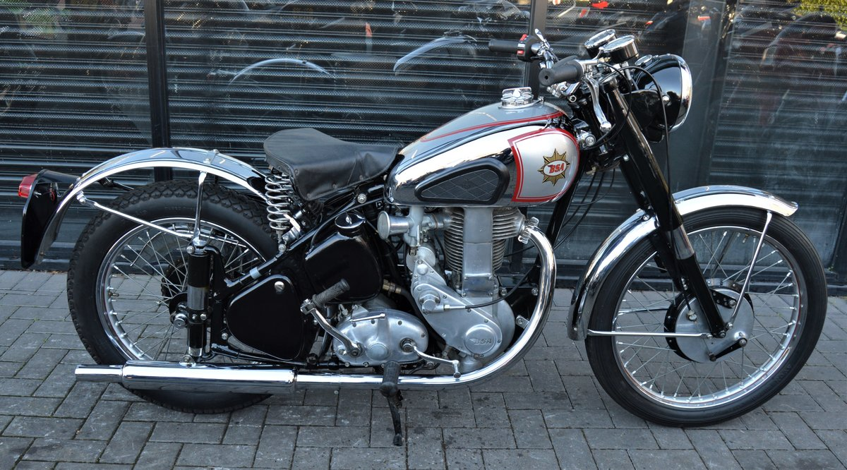 1951 BSA ZB32 GOLD STAR 350cc * CORRECT NUMBERS * RESTORED For Sale (picture 2 of 6)