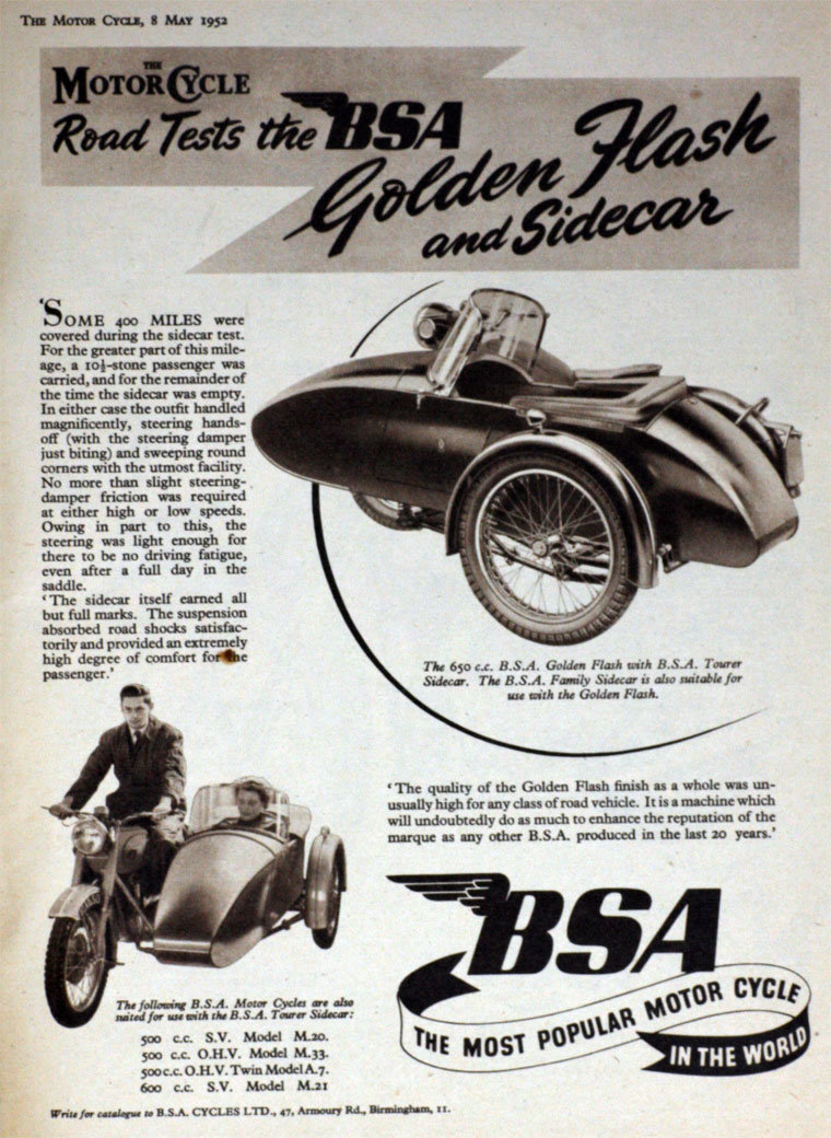 1954 BSA M21  600cc  year  with  sidecar - v.g.c. For Sale (picture 6 of 6)