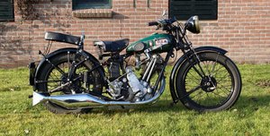 BSA Sloper 500cc 1931 with danisch registration papers