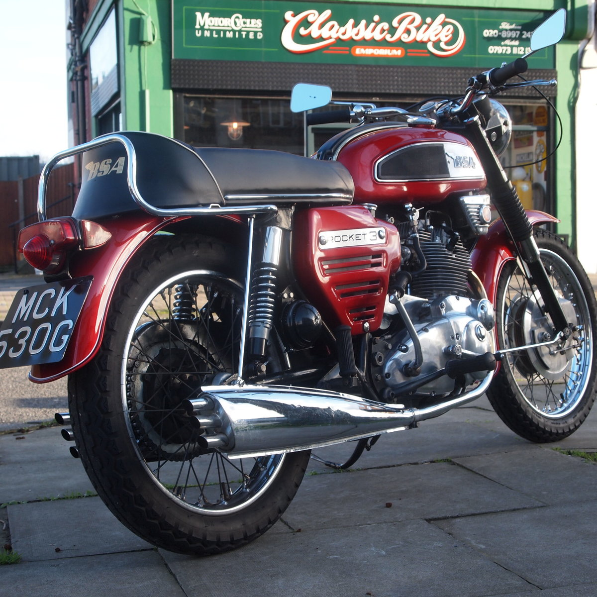 1969 BSA Rocket 3 with Electric Start, Early 1968 Model. For Sale (picture 1 of 6)