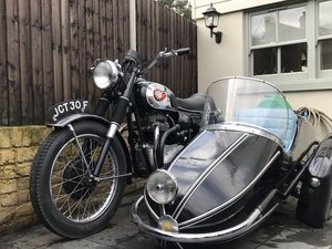 BSA thunderbolt and rare side car
