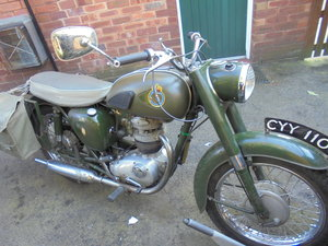 bsa b40 350cc ex army civil defence