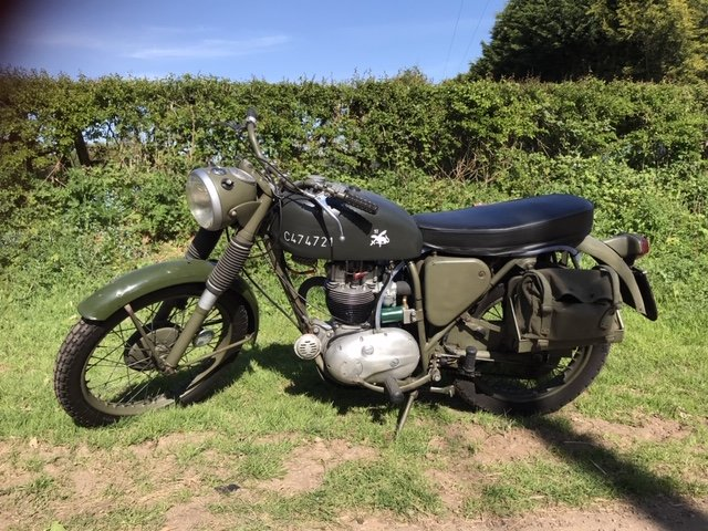 1970 BSA B40WD. For Sale (picture 1 of 6)