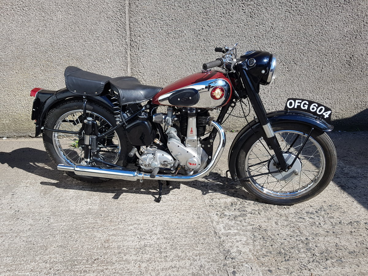 1955 BSA M33 500cc single  SOLD (picture 1 of 6)