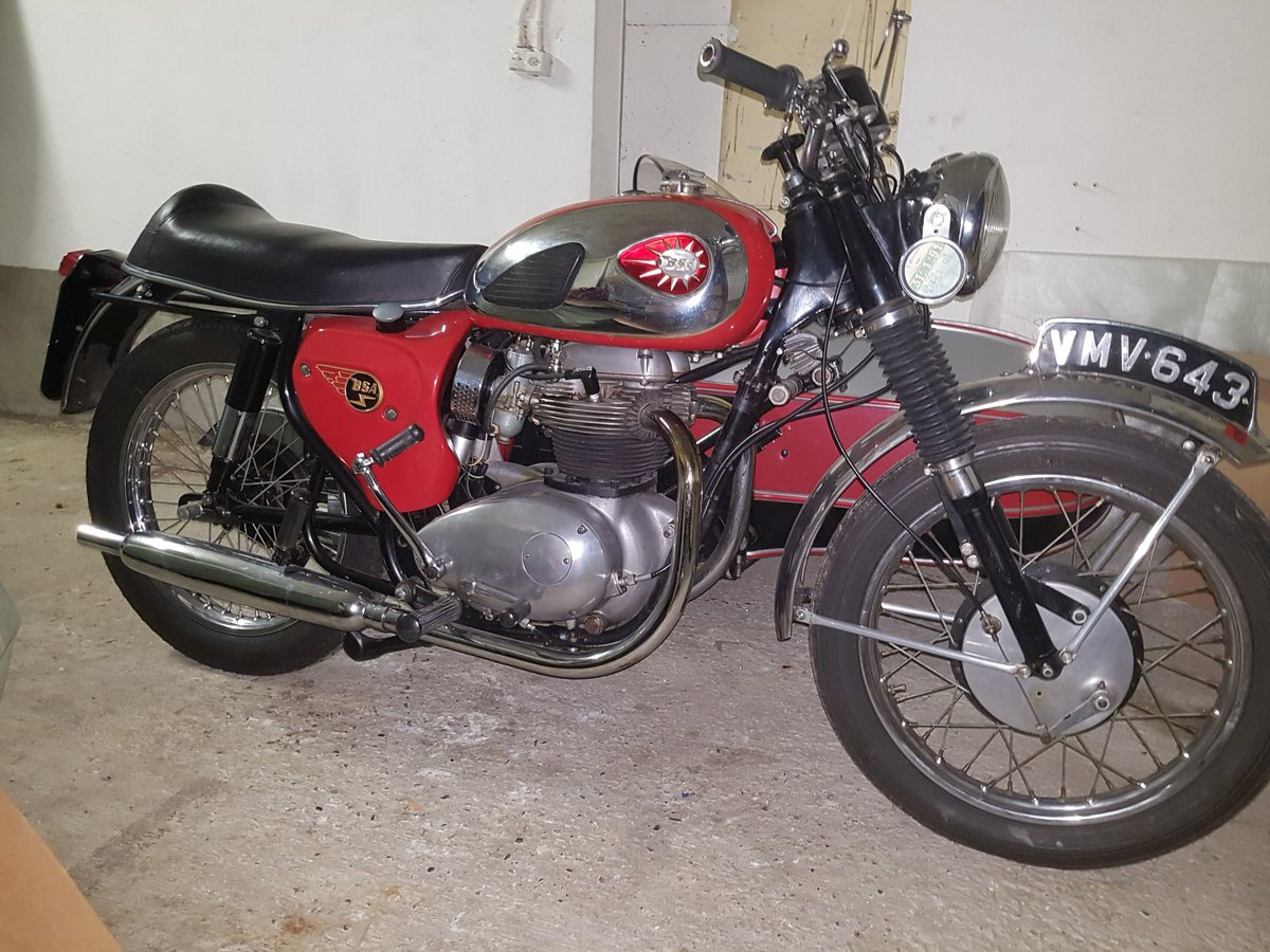 1964 BSA sport  sidecar outfit For Sale (picture 1 of 6)