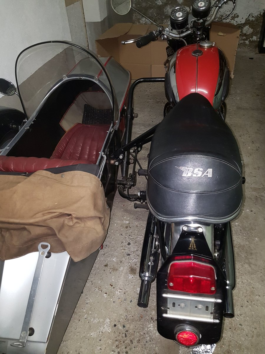 1964 BSA sport  sidecar outfit For Sale (picture 4 of 6)