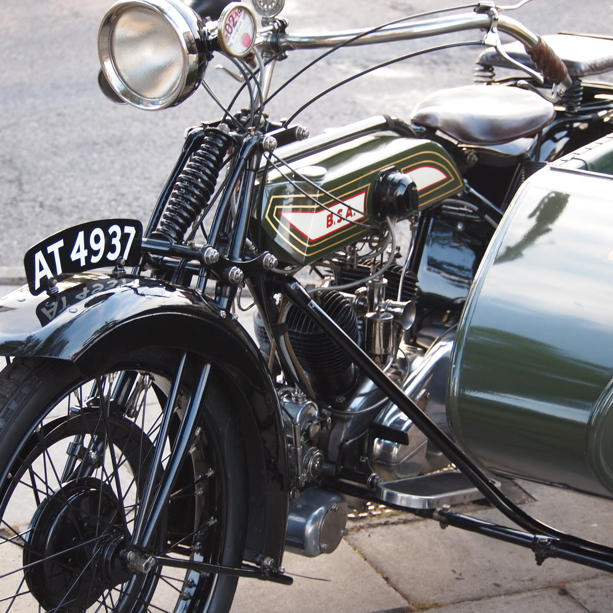 1921 BSA Model A 770cc V Twin, Owned By Ex BSA Expert. For Sale (picture 4 of 6)