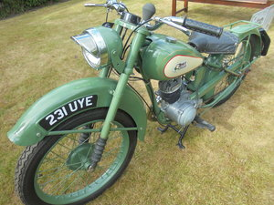 1949 BSA bantam d1 125cc rigid