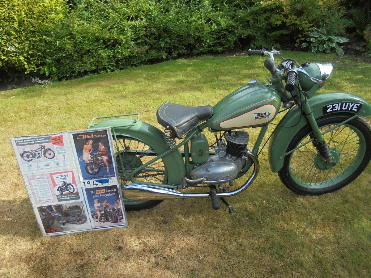 1949 BSA bantam d1 125cc rigid For Sale (picture 3 of 6)