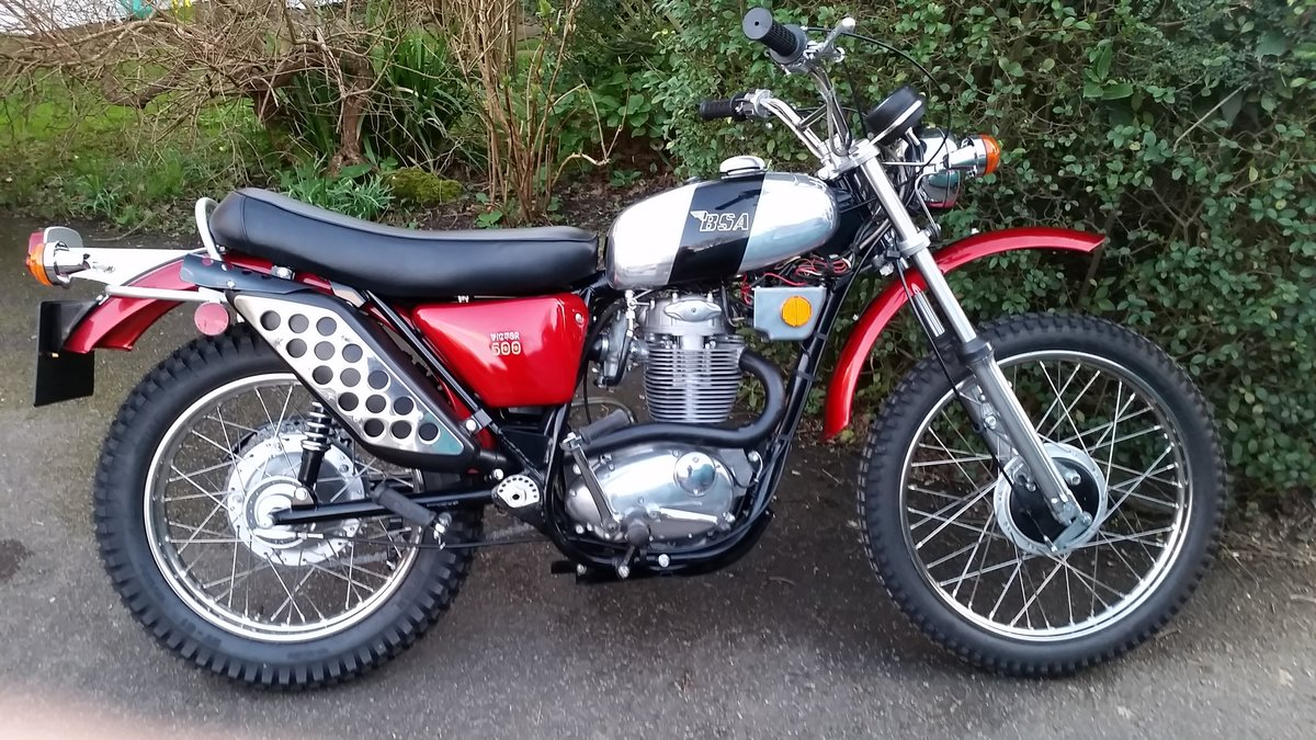 1971 BSA B50T 500cc Victor Single Fully Restored For Sale (picture 1 of 6)