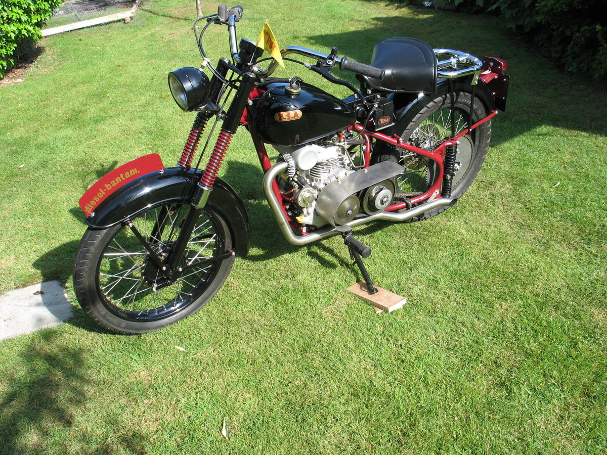 1952 BSA bantam d1 with  diesel engined For Sale (picture 1 of 6)