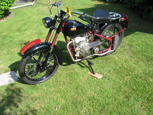 Picture of 1952 BSA bantam d1 with  diesel engined