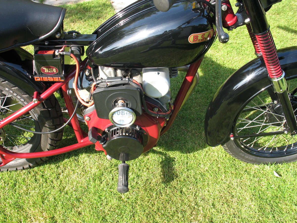 1952 BSA bantam d1 with  diesel engined For Sale (picture 6 of 6)