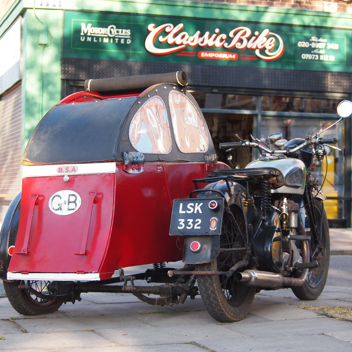 1939 BSA M20 Outfit In Beautiful Oily Rag Working Condition. For Sale (picture 1 of 6)
