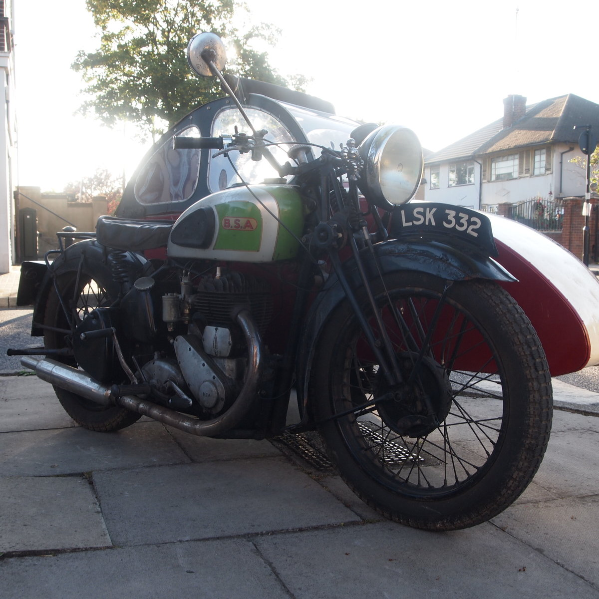 1939 BSA M20 Outfit In Beautiful Oily Rag Working Condition. For Sale (picture 2 of 6)
