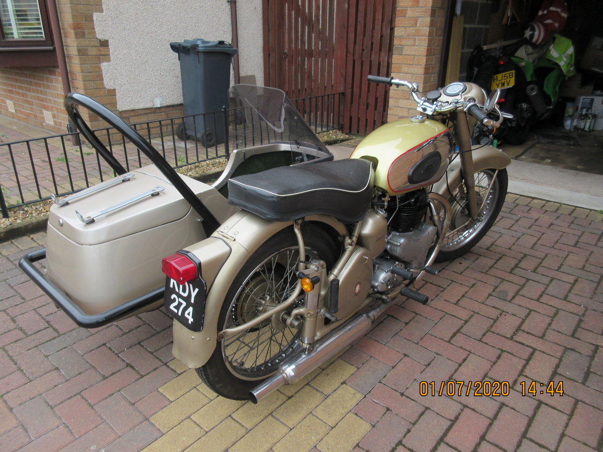 1956 Golden Flash Motorbike & sidecar SOLD (picture 2 of 6)