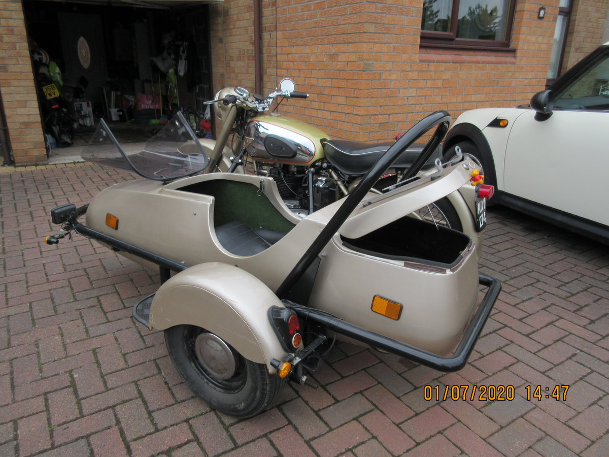 1956 Golden Flash Motorbike & sidecar SOLD (picture 3 of 6)
