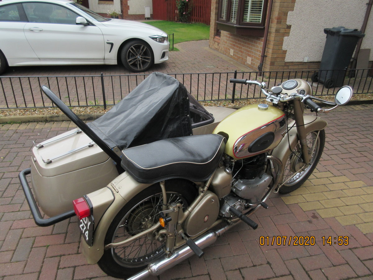 1956 Golden Flash Motorbike & sidecar SOLD (picture 5 of 6)