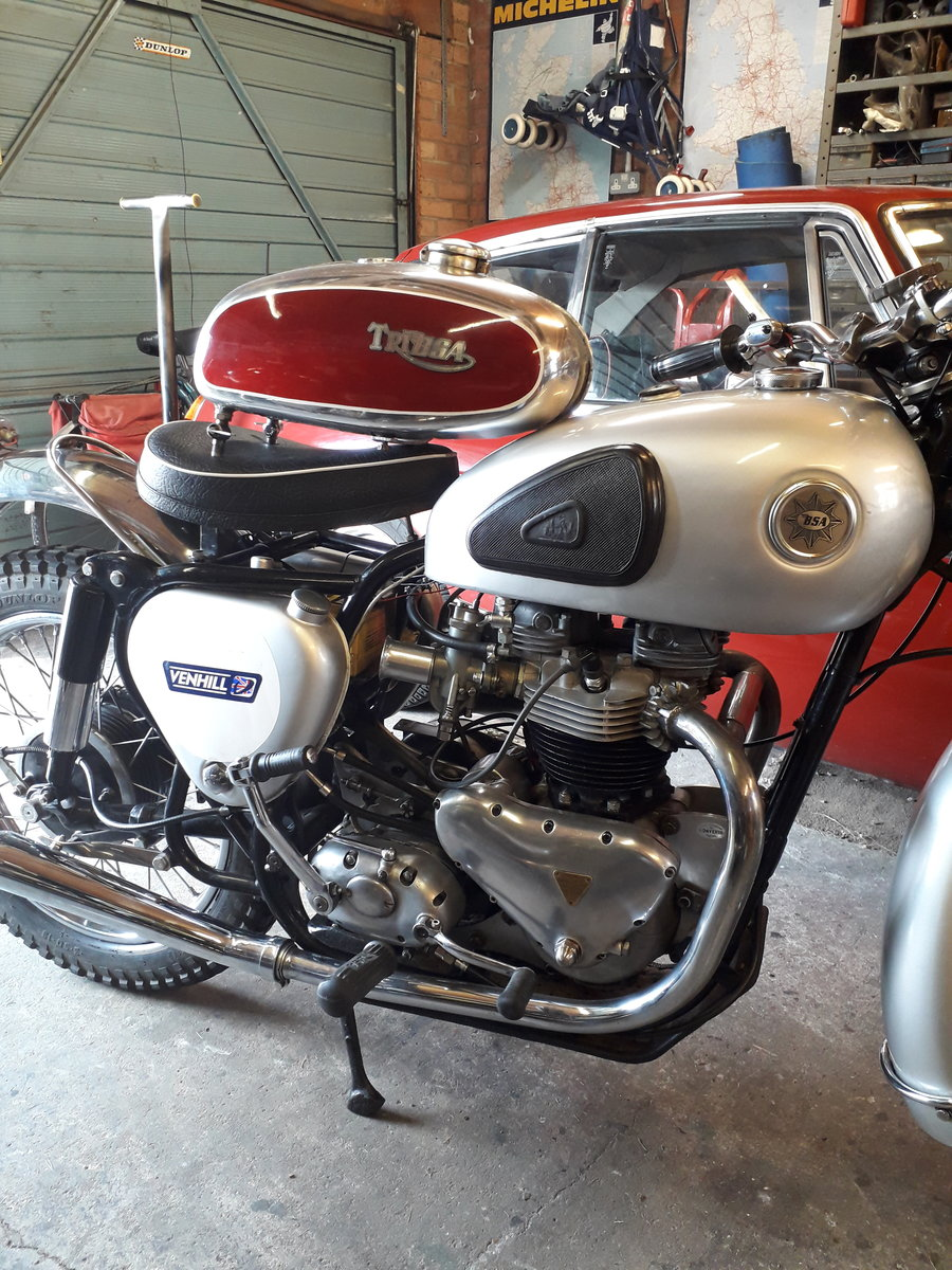 1957 BSA Tribsa bonnie spec motor. Great fun. For Sale (picture 3 of 6)
